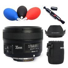 Yongnuo YN35mm F2 Lente Grande-angular de Grande Abertura Fixa Foco Automático lente para Nikon D7100 D3200 D3300 D3100 D5100 D90 DSLR câmeras