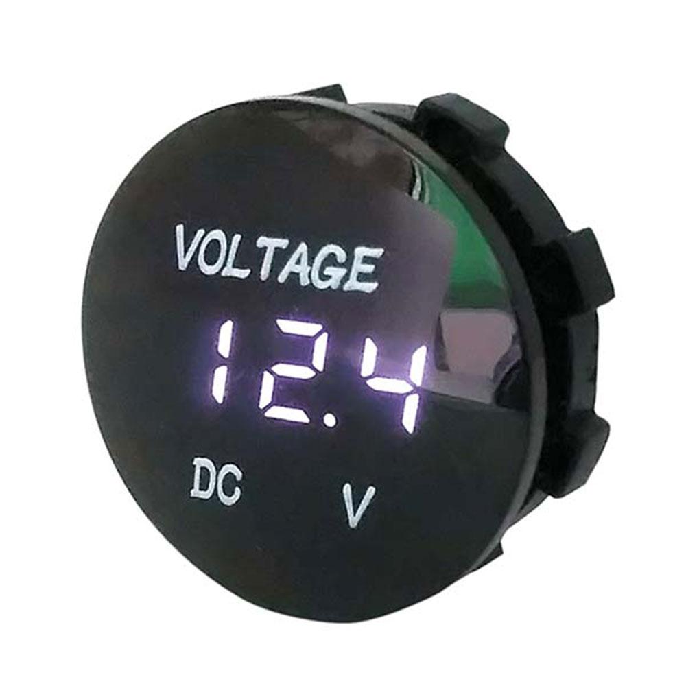 DC5-48V напряжение дисплей Вольтметр водонепроницаемый прочный измеритель напряжения для чувствительных - Цвет: Белый
