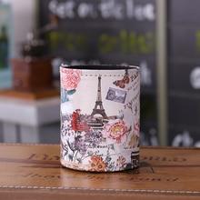 LINKWELL античный Париж Эйфелева башня Цветочный Дизайн искусственная кожа Подставка для ручек и карандашей стол органайзер Коробка Для Хранения Чехол обратно в школу