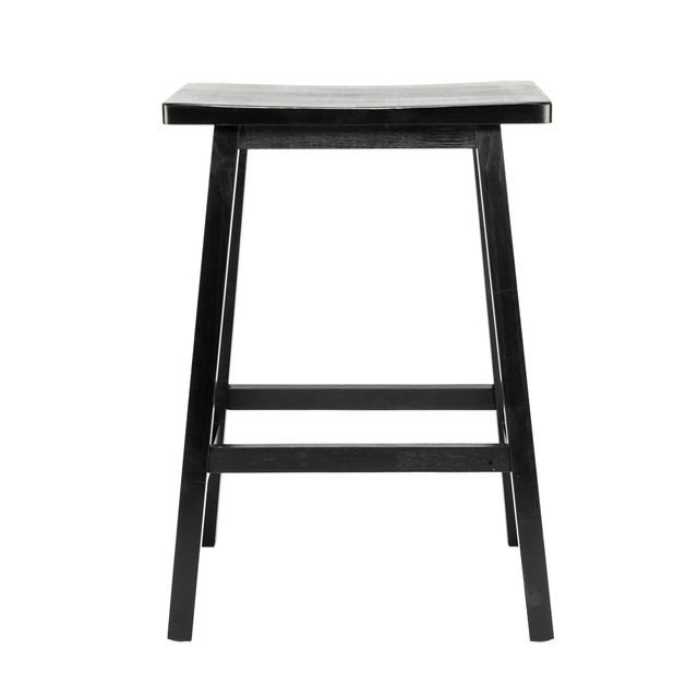 29 Height Bar Stools Kitchen Dining Room Saddle Seat Wooden Counter Stool 2 Pcs Us