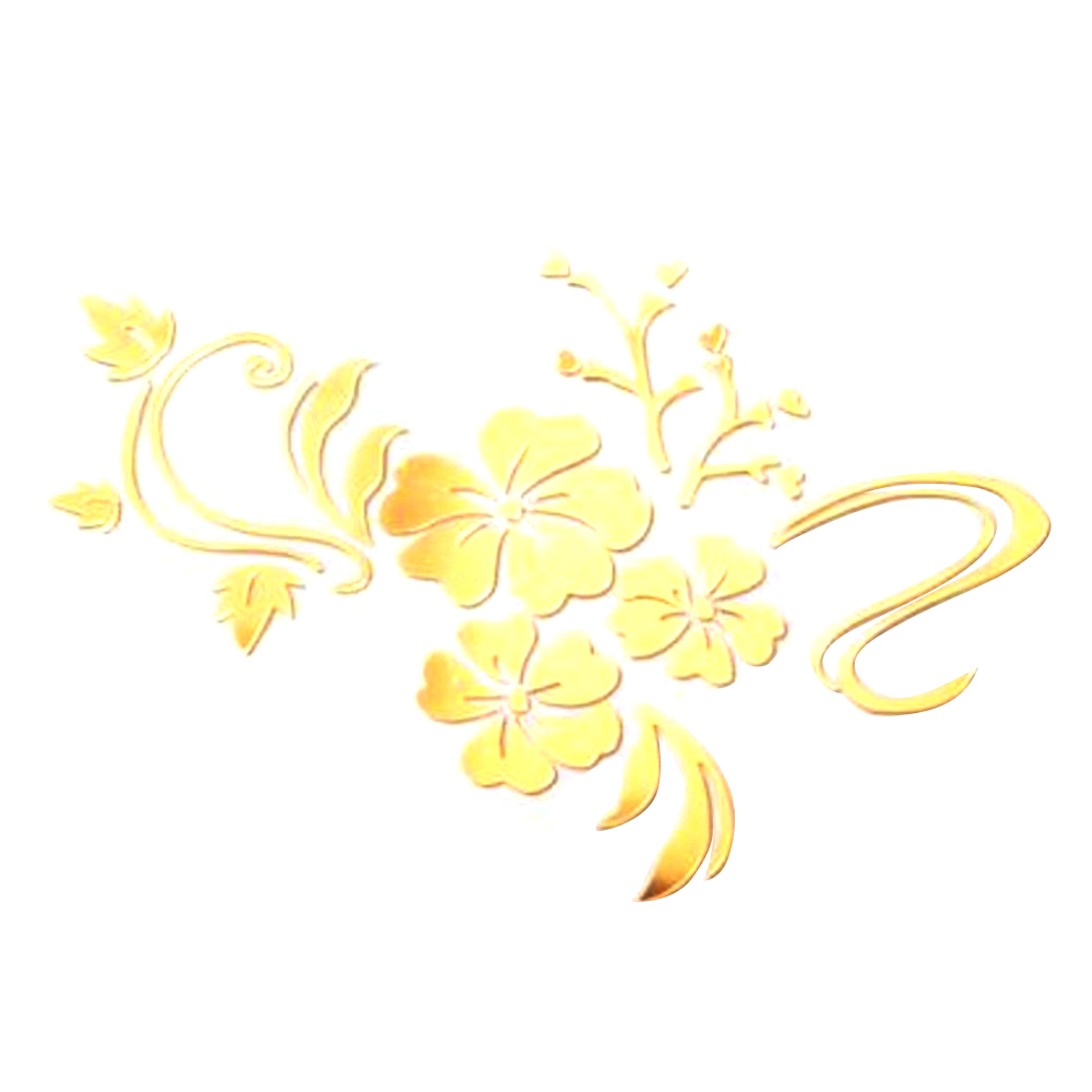 3D DIY Art Plum Flower Wall Mirror Stickers Self Adhesive Acrylic ...