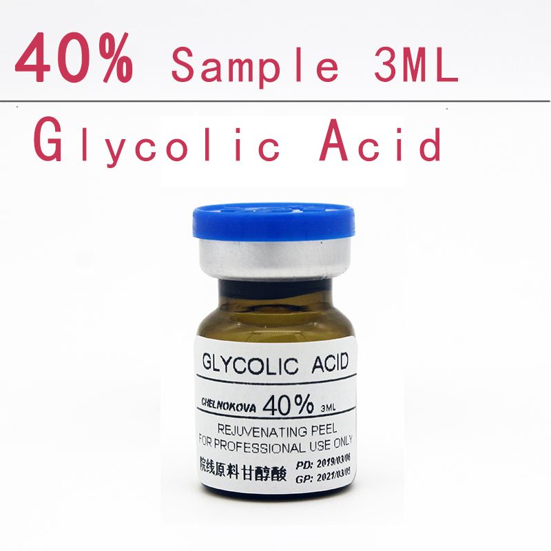 Glycolic Acid 40% Sample 3ml Aha Skin Peeler Acid Peeling Remove Acne Pockmark Peeling Treatment