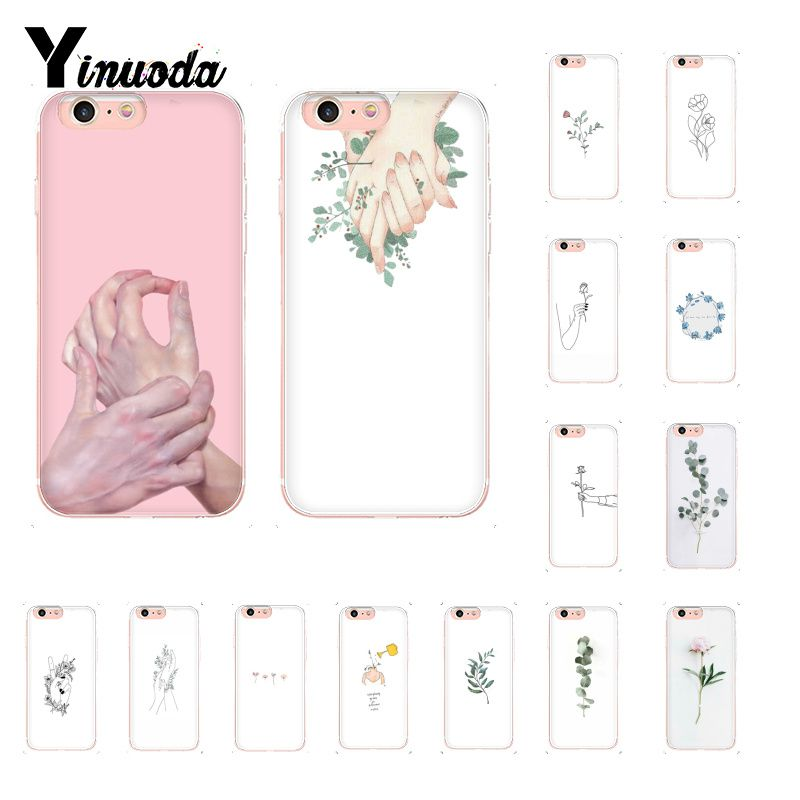 Yinuoda Best Friend Pink Hands Funny Flowers Luxury Unique Design <font><b>PhoneCase</b></font> for <font><b>iPhone</b></font> X XS MAX 6 6s 7 <font><b>7plus</b></font> 8 8Plus 5 5S SE XR image