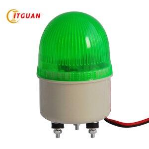 LTE-5071-luz LED verde Mini de advertencia con perno, lámpara de luz intermitente de emergencia, 12V, 24V, rojo y verde, 1W