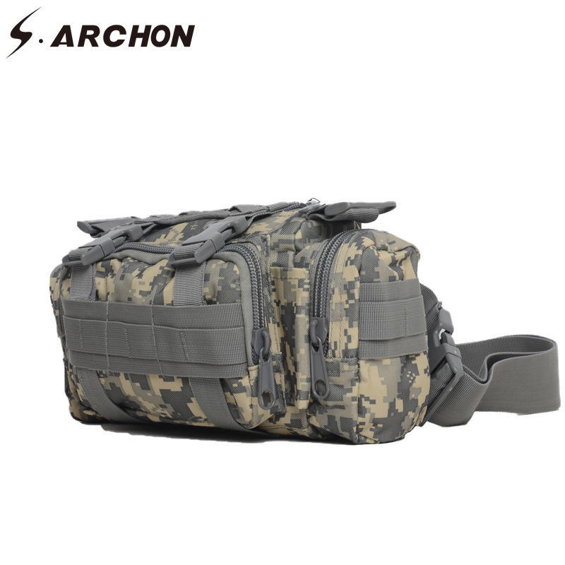 US $30.06 30% OFF|S.ARCHON Travelling Military Pack Men Belt Loops Many Pockets Army Waist Bags Molle Pouch Combat Soldier Support Backpack Bag in