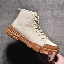 Купить с кэшбэком Autumn and winter boots men adult casual men shoes ankle flat with mens shoes