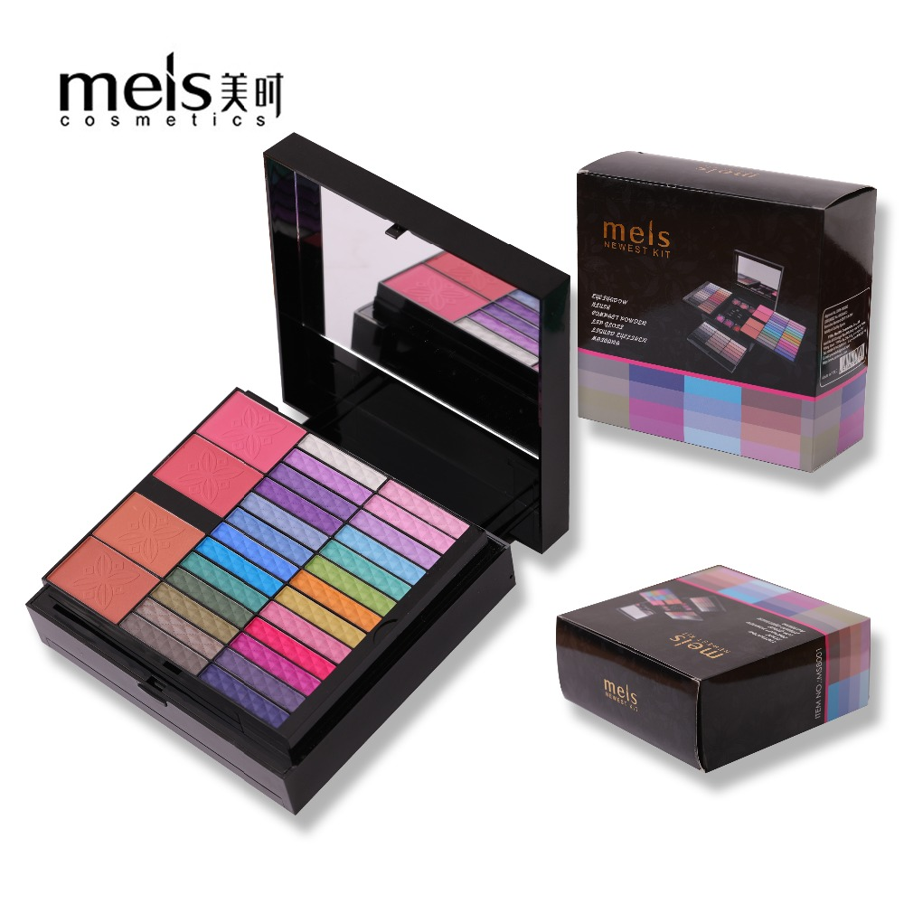 2017 MEIS Brand 80 Colors Eye shadow Set Makeup Set Cosmetics Brush For Makeup Lip Gloss Brow Shader Gel Brush Kit Tools recette merveilleuse ultra eye contour gel by stendhal for women 0 5 oz gel
