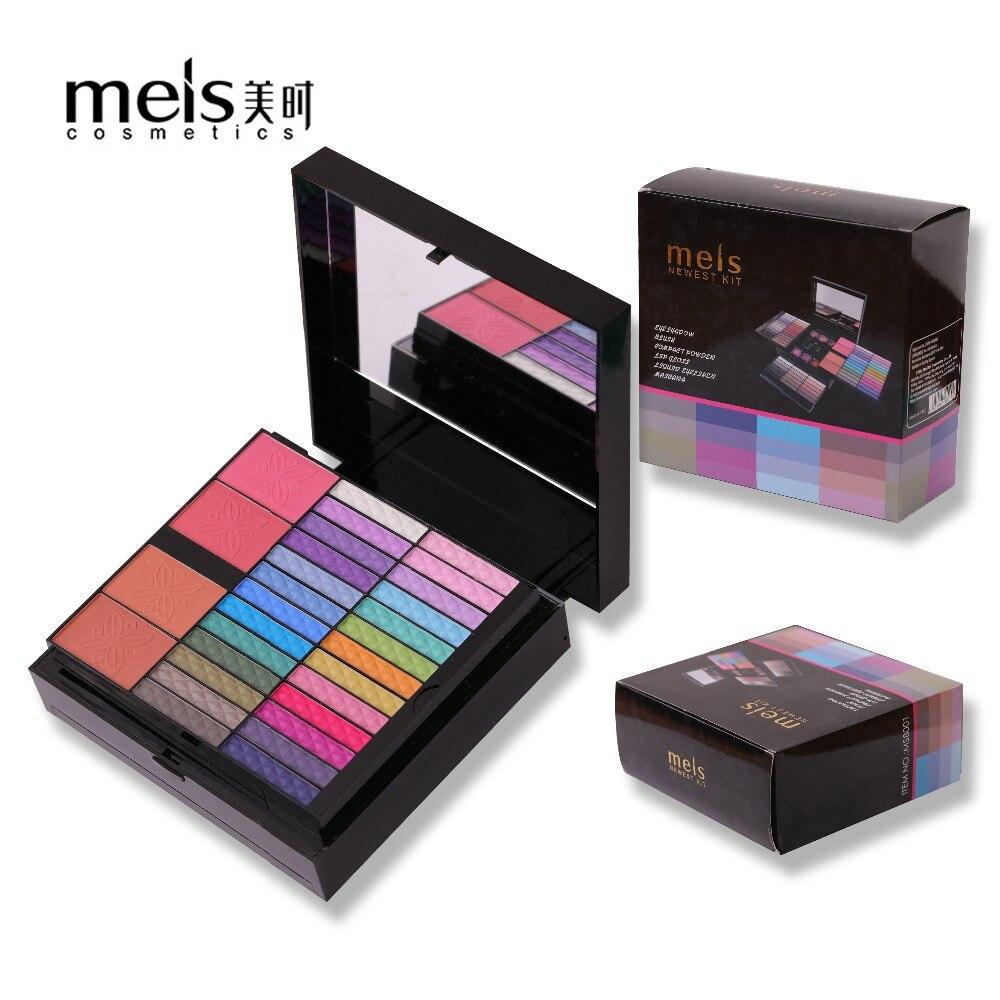MEIS Marque 80 Couleurs ombre à paupières Ensemble Maquillage Set Cosmétiques pinceau à maquillage Lip Gloss Brow Shader brosse de gel Kit Outils 8001