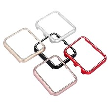 Bling Diamond Bumper Case For Apple Watch Cover Series 5 4 3 2 1 38mm 42mm 40mm 44mm Case For iWatch Aluminum Metal Cover цена