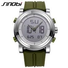 SINOBI Reloj Fresco Relojes para Hombres Mujeres Deporte Estilo Único Reloj De Cuarzo Hombre Movimiento Doble Reloj de Buceo Militar Venda de reloj