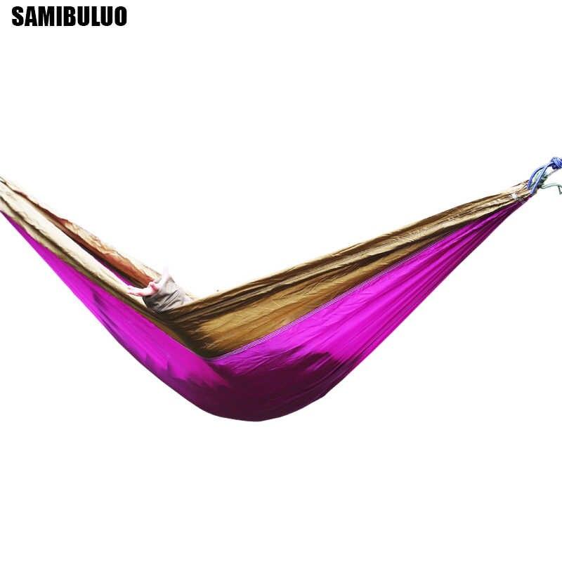 Нейлон Открытый взрослых гамак-парашют тканевый гамак для путешествий Пеший Туризм Поход Кемпинг
