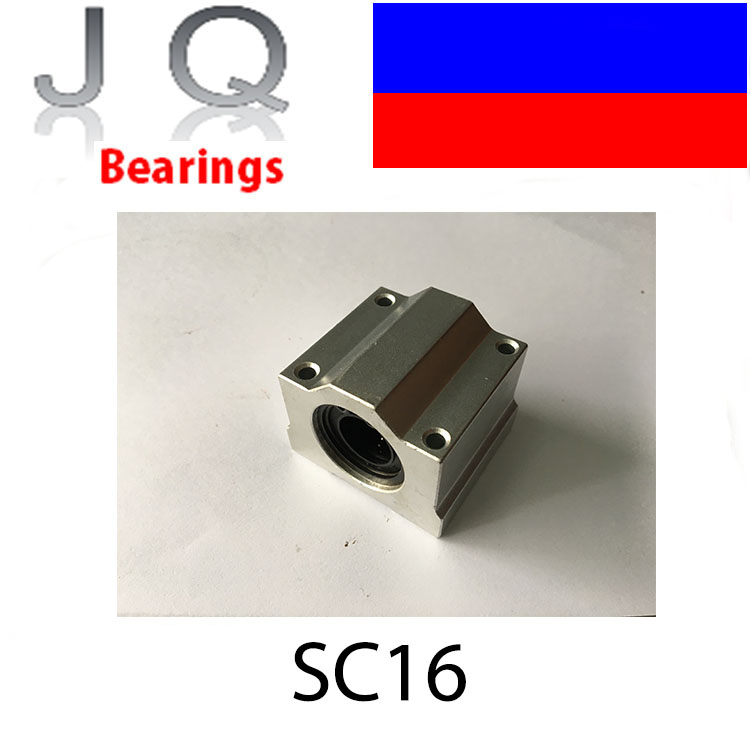 SC16UU SCS16UU SC16 SCS16 16mm Linear Motion Ball Bearing Slide Bushing Linear Shaft for CNC 2pcs lm10luu long type 10mm linear motion ball bearing slide bushing for diy cnc parts for 10mm linear shaft