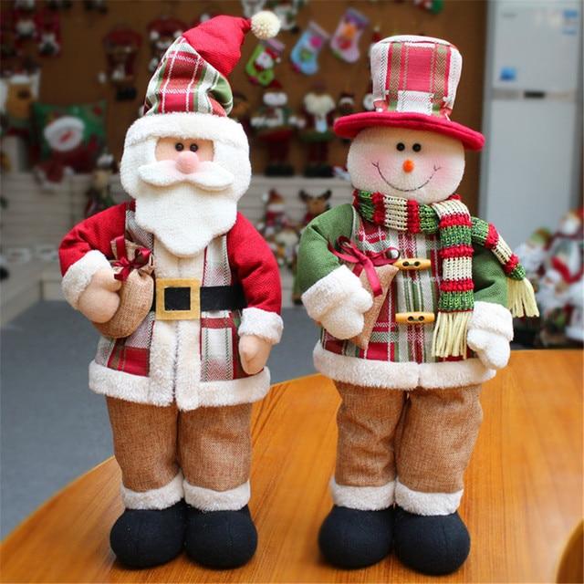lovely santa claus snowman doll christmas decoration xmas tree decent ornament large 24x9x55cm gift for kids - Christmas Decorations Large Santa Claus