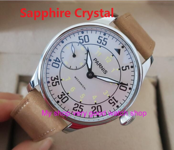 Sapphire Crystal 2017 new fashion 44mm PARNIS Asian 6497/3600 Mechanical Hand Wind movement men's watches 135 sapphire crystal 2017 new fashion 44mm parnis asian 6497 3600 mechanical hand wind movement men s watch 6a