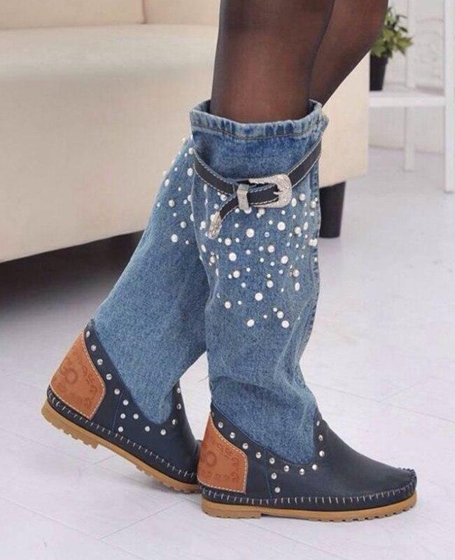 Online Get Cheap Women Knee High Leather Boots -Aliexpress.com ...