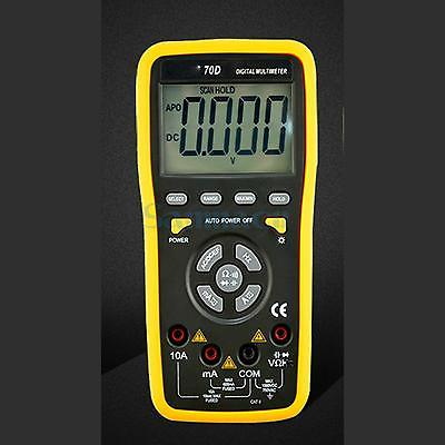 VC70D Manual/Auto Range Digital Multimeter Capacitance Frequency Ohm AC/DC Volt Meter Max Dispaly 5999 Counts mastech my68 handheld lcd auto manual range dmm digital multimeter dc ac voltage current ohm capacitance frequency meter