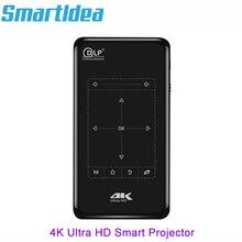 Smartldea 4 к Мини Мобильный проектор Android 6,0, BT4.1 портативный HD проектор 5000 мАч батарея сенсорные клавиши беспроводной адаптер