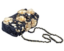 Leather Flower Evening Bags