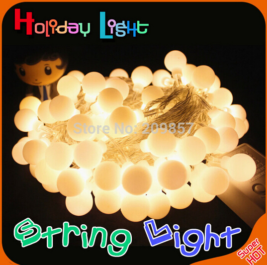 10m 100LED String Ball Lights Christmas Fairy Lights Flasher Lights LED Strip Lamp Sphere Lighting For Wedding Party Garland