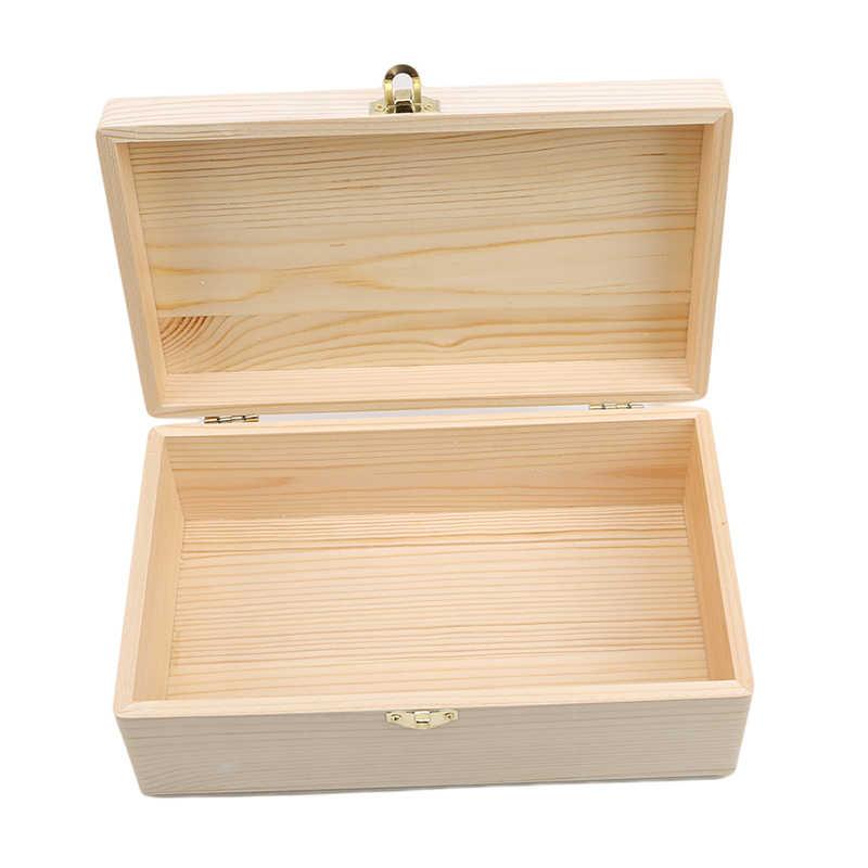 Caixa de armazenamento de madeira log cor scotch pinho retangular flip caixa de presente de madeira maciça artesanal artesanato caso de jóias