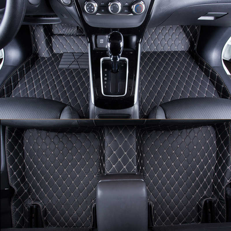 WLMWL Car Floor Mats For Toyota all models rav4 wish land cruiser vitz mark auris prius camry corolla covers Car Carpet Covers
