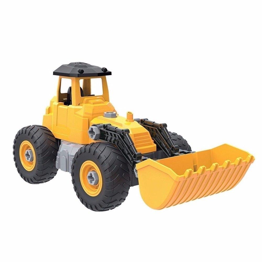 Children Vehicle Sets Construction Model Toys Bulldozer Excavator Engineering Vehicle Kids Educational Toy For Boy Birthday Gift