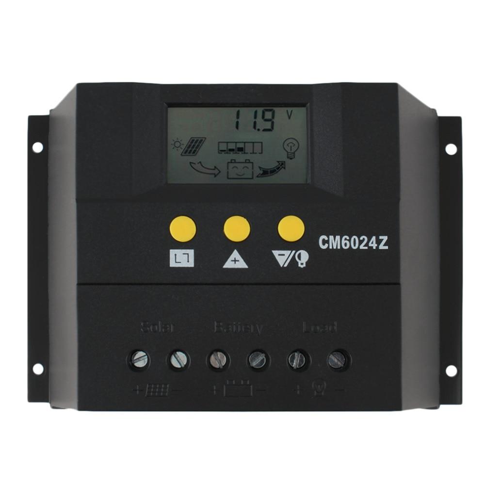 PWMโหมดการชาร์จPY6024Z 60A 12-24โวลต์พลังงานแสงอาทิตย์Regulatorควบคุมการเก็บประจุพลังงานแสงอาทิตย์จอแอลซี...