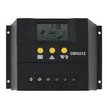 Режим ШИМ заряд PY6024Z 60A 12-24 В Солнечная Регулятор Контроллер Заряда ЖК Солнечный Genetator Напряжение Управления