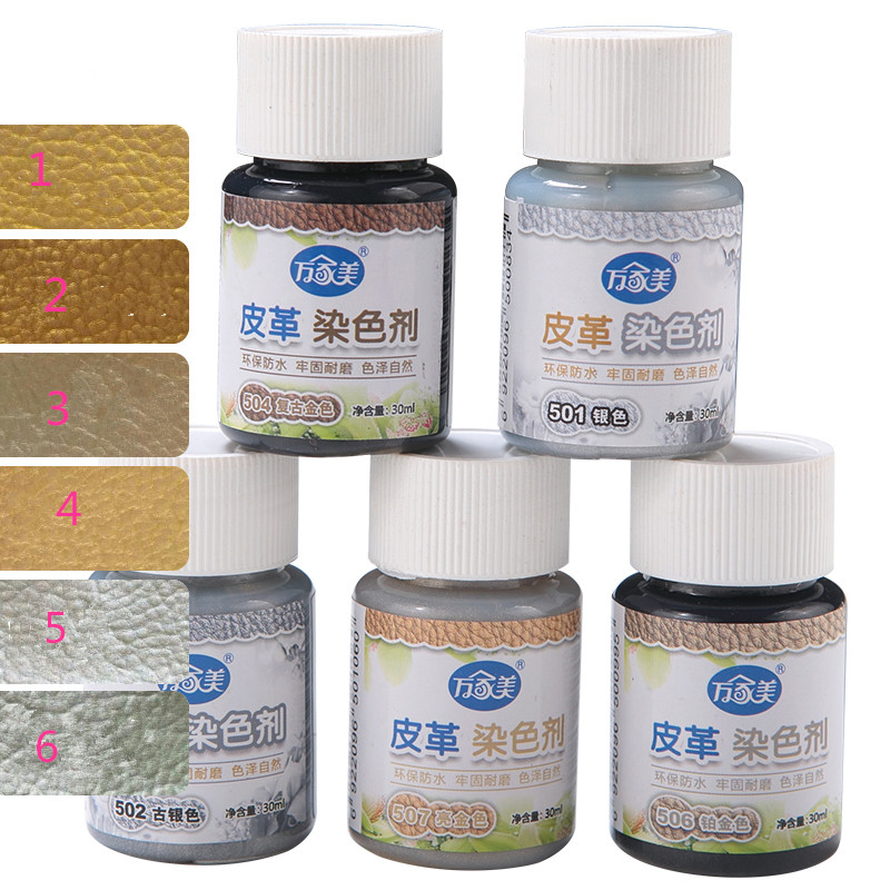 Free shipping 30ml / bottle leather stain color change complement retro gold silver