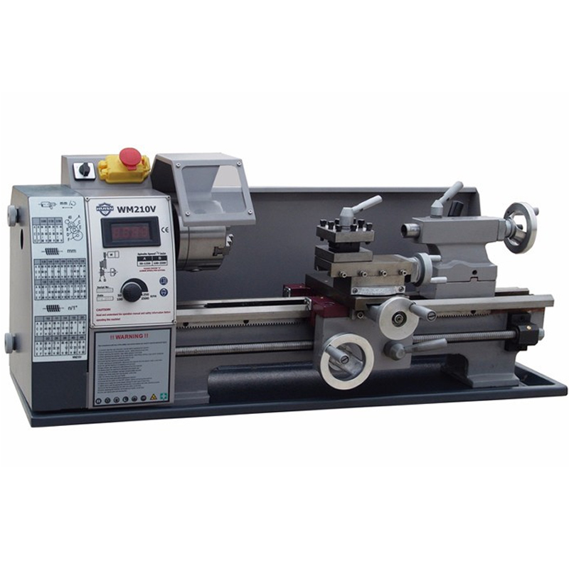 110V/220V Small mini Household Lathe WM210V Mini Lathe Machine Tool 600W Stepless Speed Regulation home buddha machine wm210v small ball machine mini machine tool teaching lathe woodworking wm180v 0618