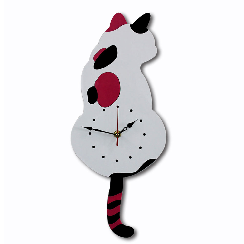 Cute Adorable Black Cat Pendulum Clock Funny Cat Funny Cat Swinging Tail Wall Clock Kit Cat Wall Decor Kitten Lovers Gift