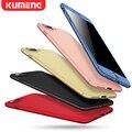KUMENG Телефон Case Красный для Iphone 7 7 Plus Case все 360 Новый Мобильный Телефон Оболочки Скраб для Смартфон Защитный Case