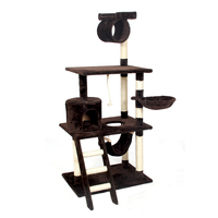 Domestic Delivery Cat Toy Scratching Wood Climbing Tree Cat Jumping Toy With Ladder Climbing Frame Cat