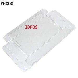 Image 1 - YGCDO 30 pcs שקוף ברור עבור SNES עבור N64 משחק תיבת מגן מקרה משחקי פלסטיק לחיות מחמד מגן משחק קופסות