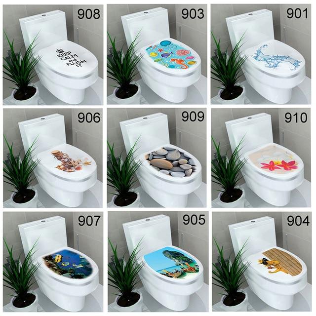 1 stks 3d wc stickers badkamer decoratieve pasta badkamer decoratie waterdicht schilderen muursticker interieur 65z