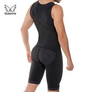 Image 1 - Bodysuit Men Weight Loss Shapewear Full Body Shapers Slimming Plus Size Open Crotch Abdomen Shaper Waist Trainer Underwear S 6XL
