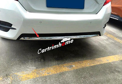 ABS Under Rear Bumper Cover Trim 1pcs For Honda Civic 10th Gen 4dr Sedan 16-18