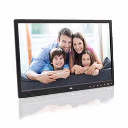 15 inch loop playback video picture touch buttons infront video picture player digital photo frame digital album support 1080p