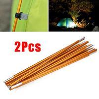 2pcs Set Camping Tent Poles Aluminum Alloy Awning Rod Spare Replacement Bar Tool