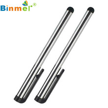 Long Silver 2 PCS Touch Pen Rubber and Metal for iPad Air 2 3 4 iPad