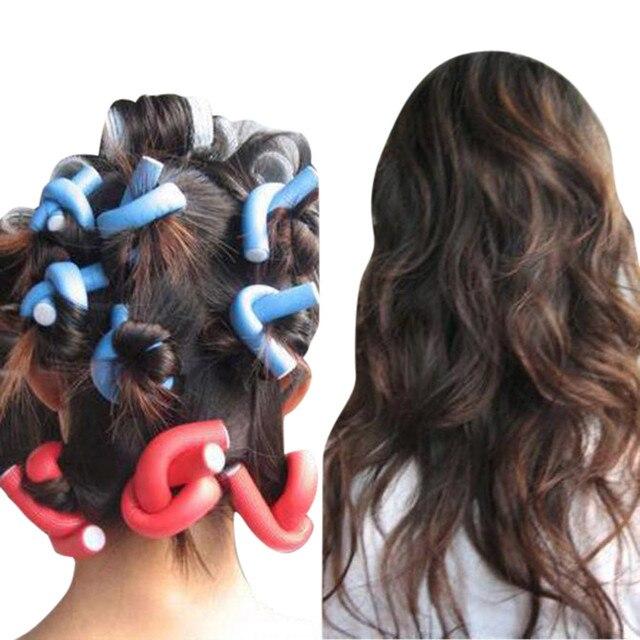10 PCS Encrespador Makers Espuma Macia Bendy Torção Curls DIY Hair styling Ferramenta Rollers para Mulheres Acessórios de alta qualidade.