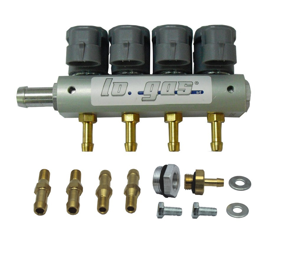 GPL/GNC Injecteur Rail pour 4 Cylindre D'injection Séquentielle Système 67R et 110R ECE