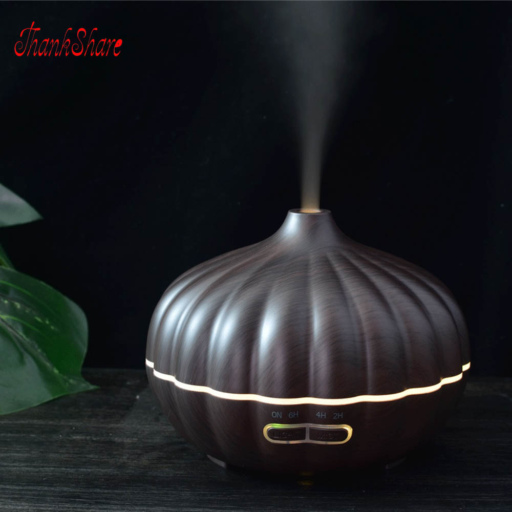 550ML Pumpkin Air Humidifier Ultrasonic Aroma Diffuser 7 Colors  Essential Oil Diffuser Mist Maker Electric  With Aroma Lamp crdc air humidifier ultrasonic 100ml aroma diffuser glass essential oil diffuser mist maker with 7 colors changing led light