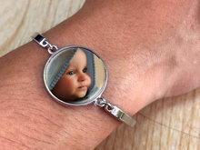 20mm Personality Photo Family Photo Baby Child Dad Mom Brother Sister Grandparents Family Portrait Bracelet Private Custom(China)