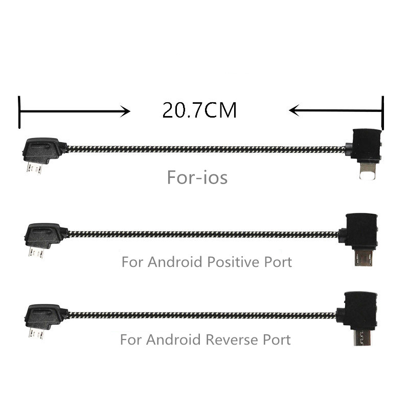 20 7cm Extended Cable Line Remote Control Connecting Mobile phone Tablet Data Line For DJI Mavic