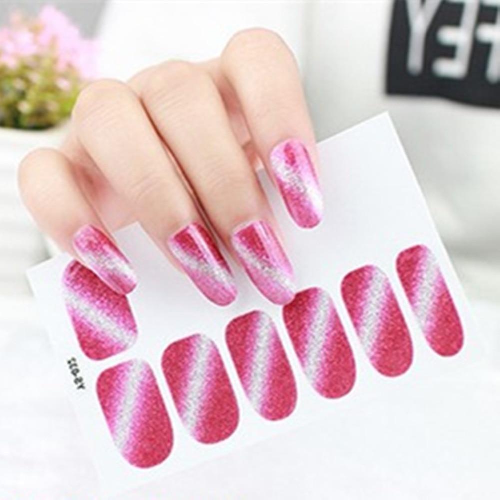 Glitter Farbe Folie Aufkleber Nail art Papier Aufkleber Kleber DIY ...