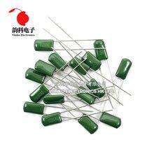 Capacitor película de poliéster 100v, 50 peças de capacitor de película de poliéster v 1nf 1.5f 2.2resistresistente 100f 2a471j 2a152j 2a222j �� 2a2a103j 2a104j