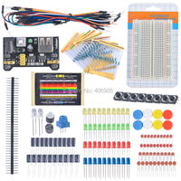 Electronic Fans Kit Breadboard Cable Resistor Capacitor LED Potentiometer For Arduino