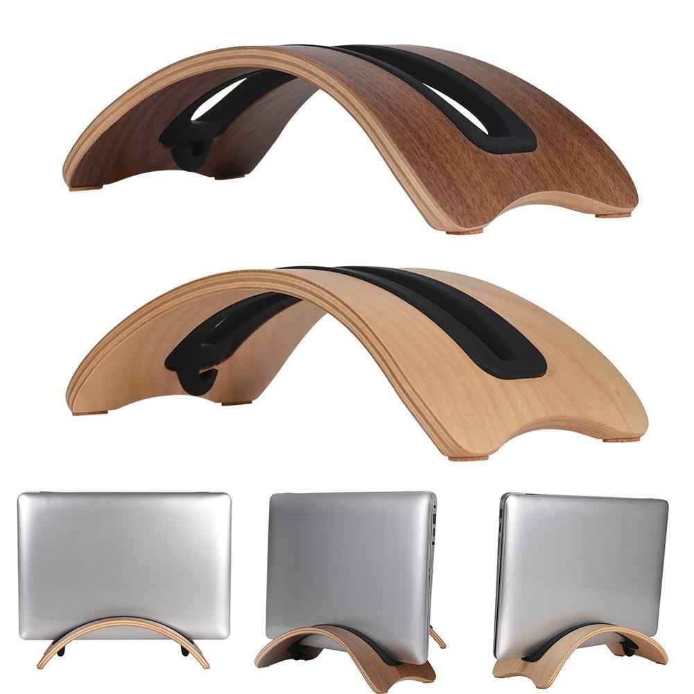 Samdi خشبية الرأسي سطح المكتب حامل كمبيوتر محمول حامل القوس حوض ل ماك بوك الهواء