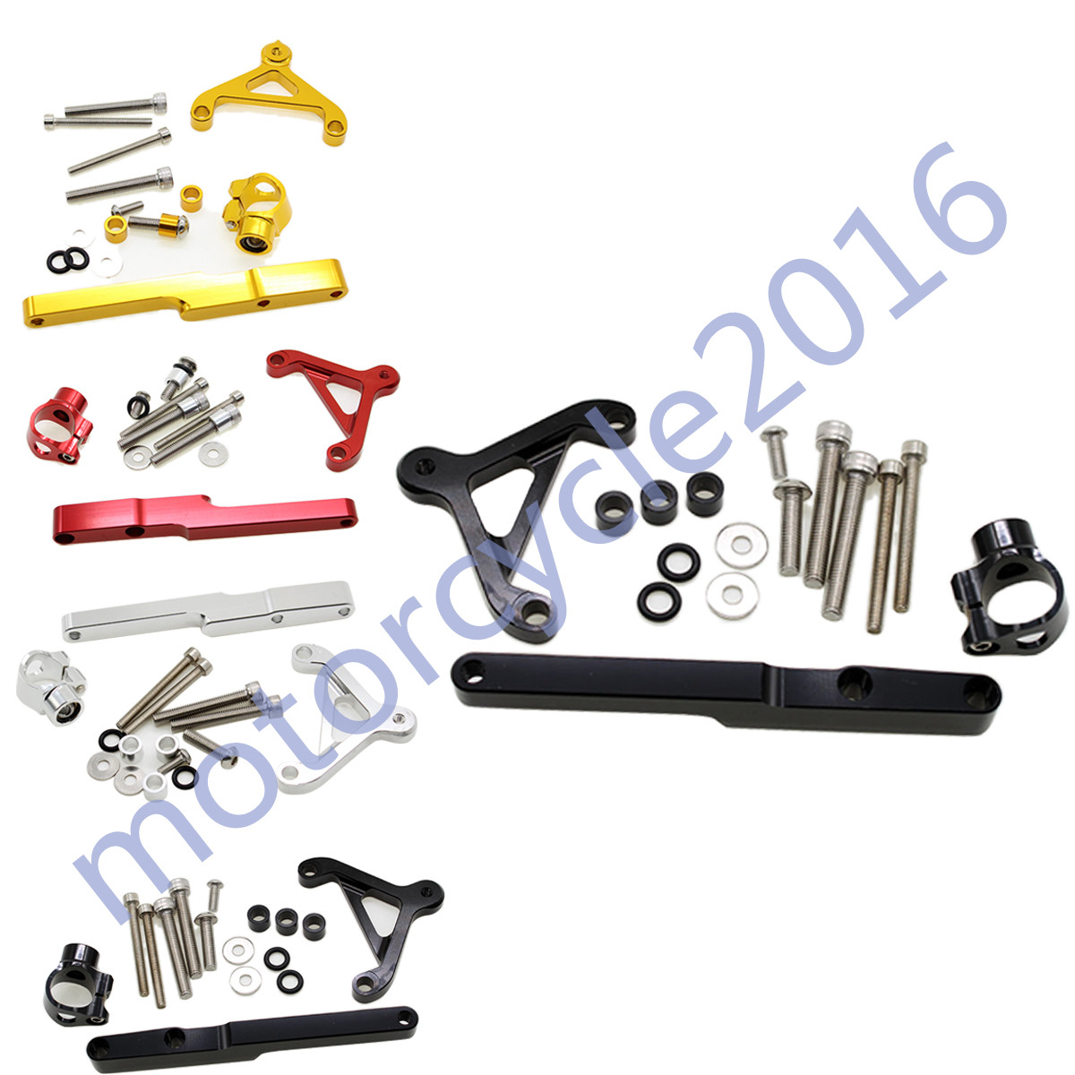ФОТО Adjustable Steering Stabilize Damper bracket Mount kit For HONDA CB1000R 2008-2010 2011-2016 T6061-T6 Aluminum One set CNC FXCNC